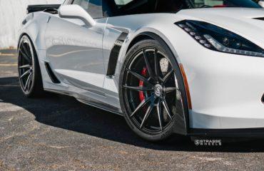Strasse Wheels Carbon Fiber SV1 Concave Monoblocks Corvette C7 Z06