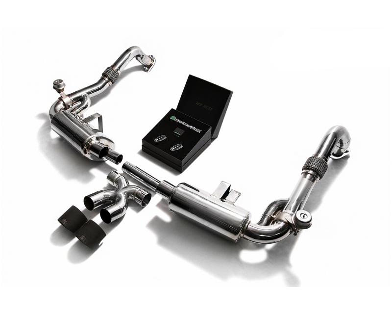 Выхлопная система ARMYTRIX Valvetronic Dual Carbon Porsche 718 Boxster | Cayman 17-18