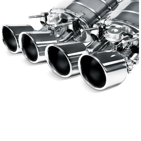 AKRAPOVIC TP-CT/2 Насадки для BMW E70 X5M / E71 X6M (карбон)